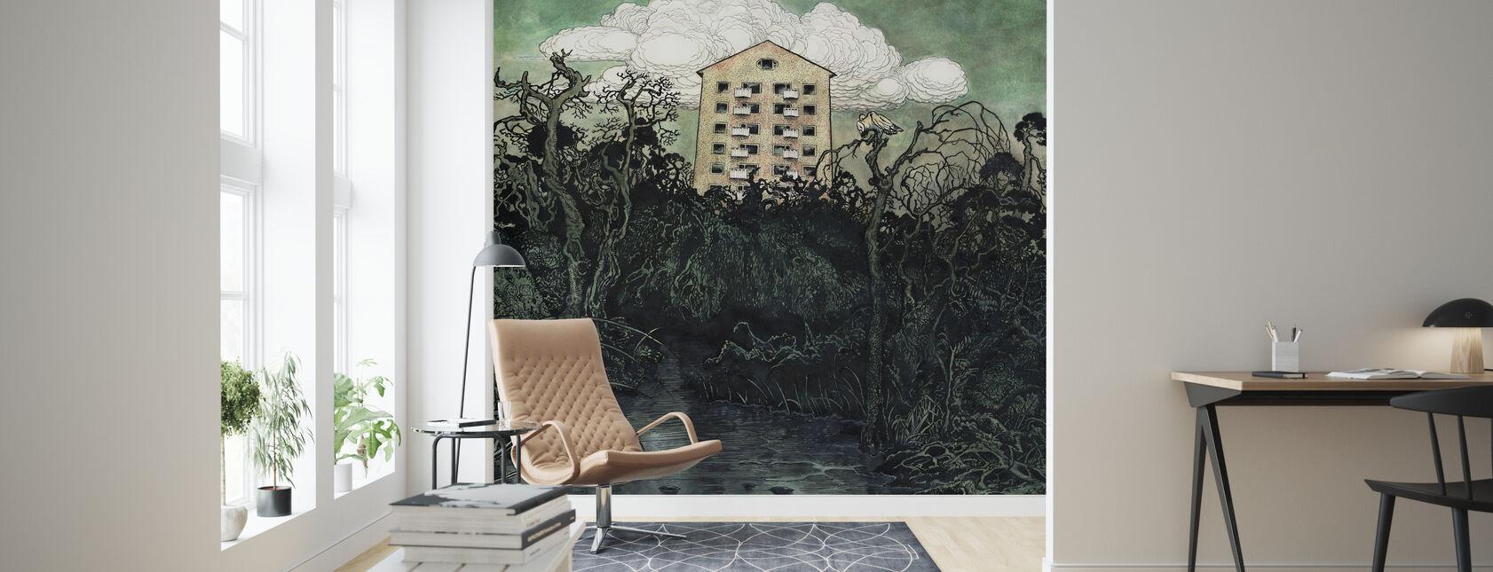 Tower Owl - Wallpaper - Living Room