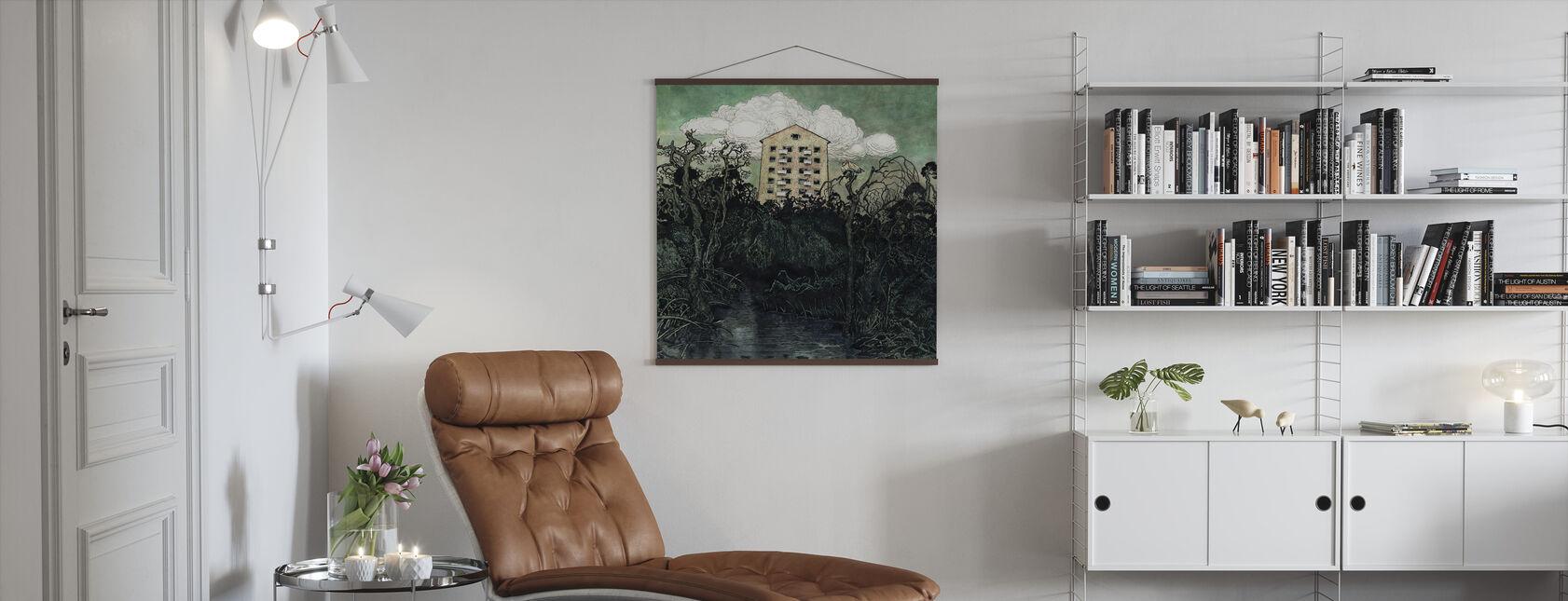 Sowa wieżowa - Plakat - Pokój dzienny