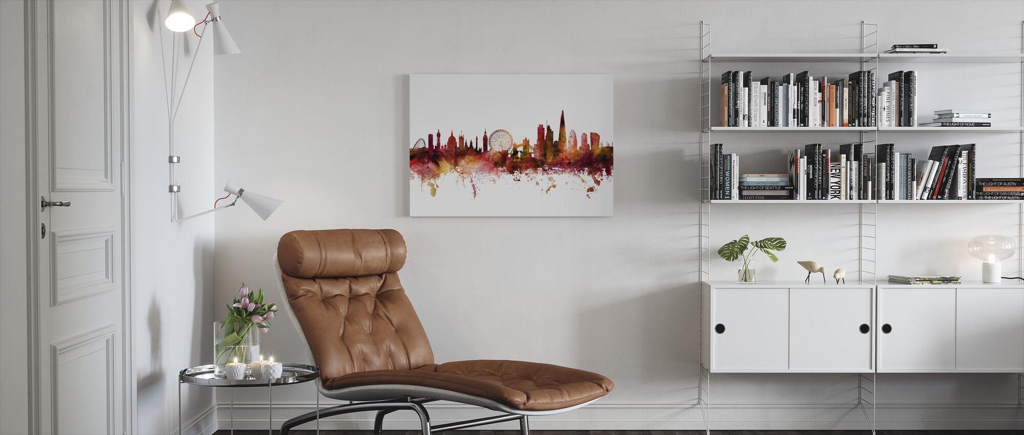 London England Skyline - Canvas print - Living Room