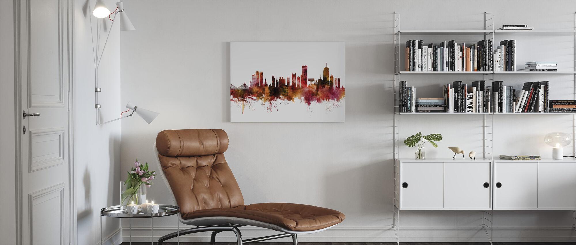 Boston Massachusetts Skyline - Canvas print - Woonkamer