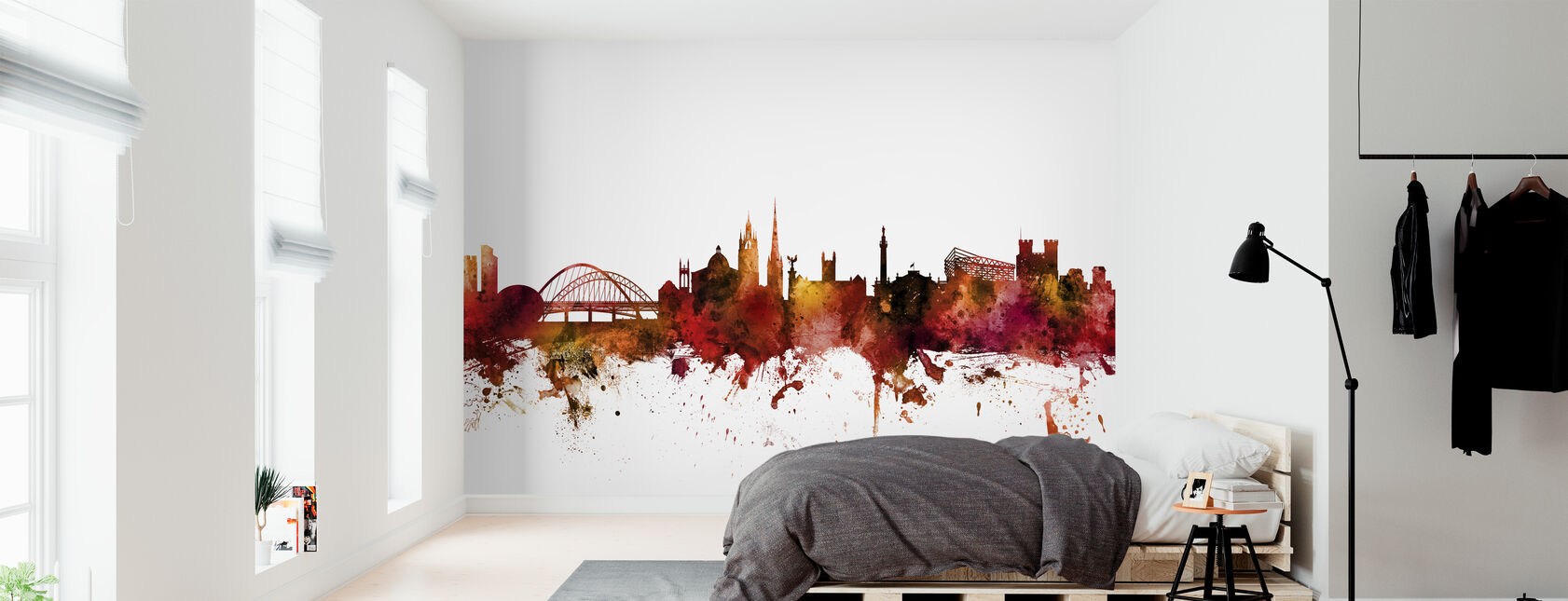 Newcastle England Skyline - Wallpaper - Bedroom