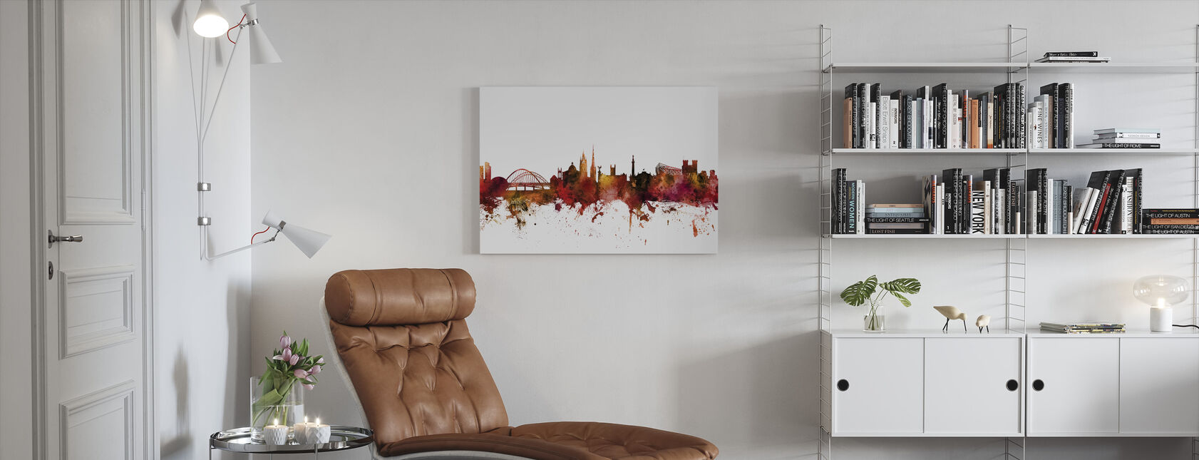 Newcastle England Skyline - Canvas print - Living Room