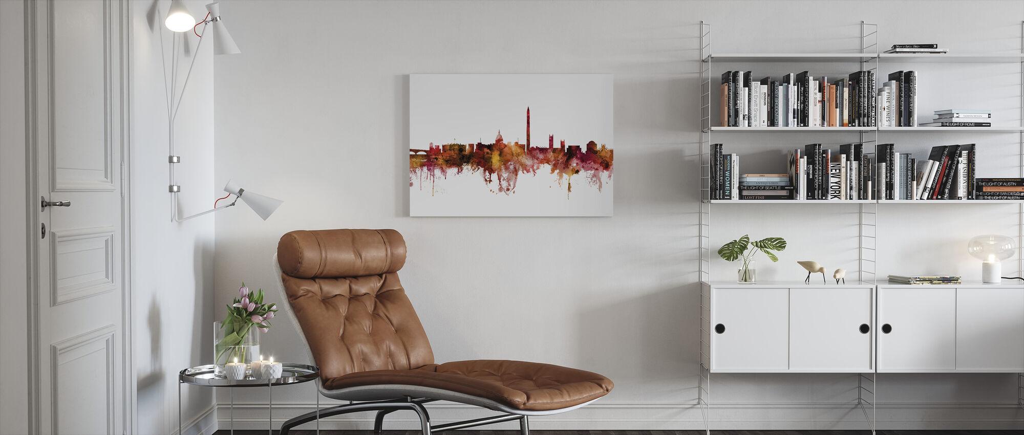 Washington DC Skyline - Canvas print - Woonkamer