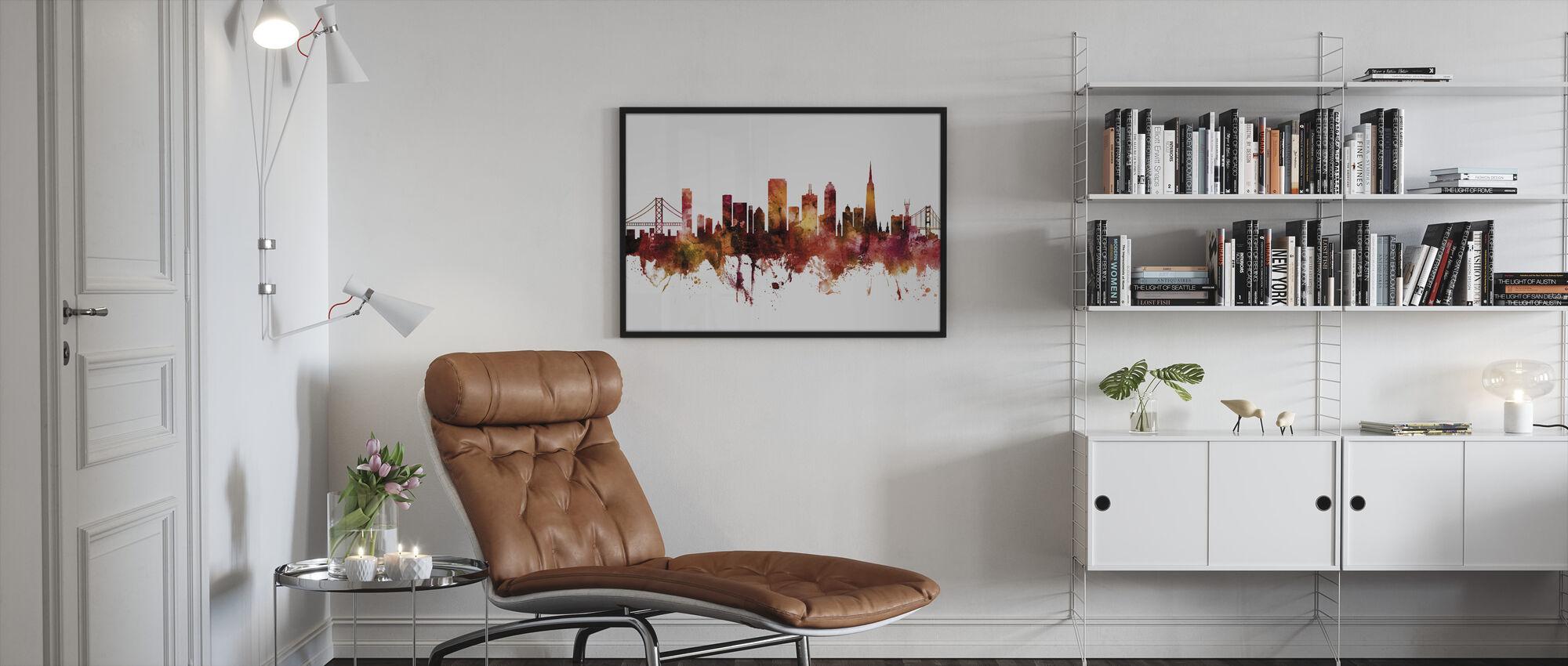 San Francisco California Skyline - Framed print - Living Room
