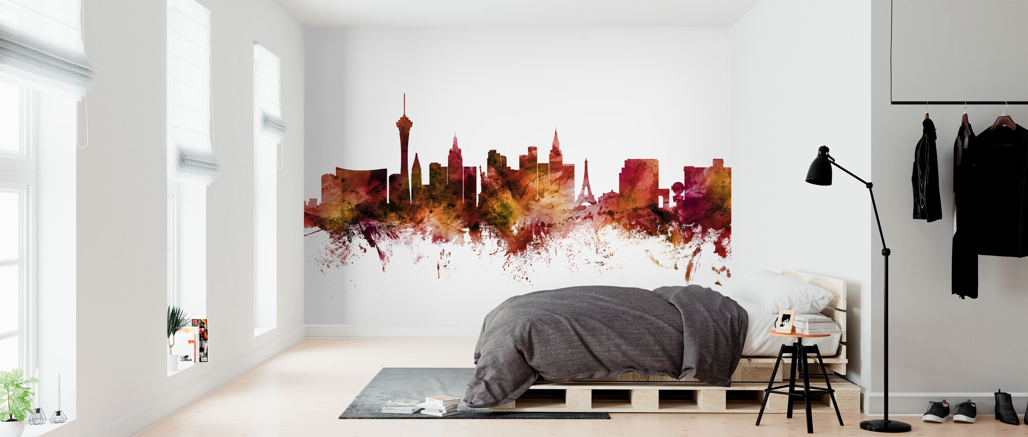 Las Vegas Nevada Skyline - Wallpaper - Bedroom