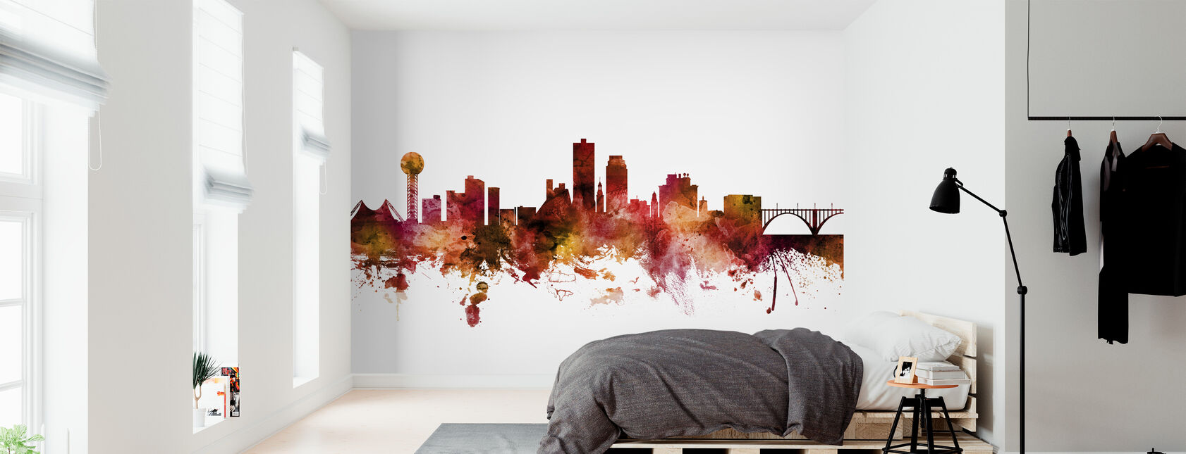 Knoxville Tennessee Skyline - Wallpaper - Bedroom