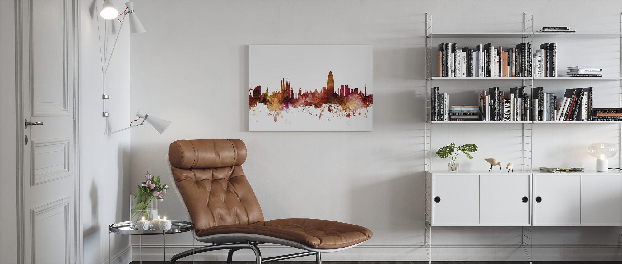 Barcelona Spain Skyline - Canvas print - Living Room