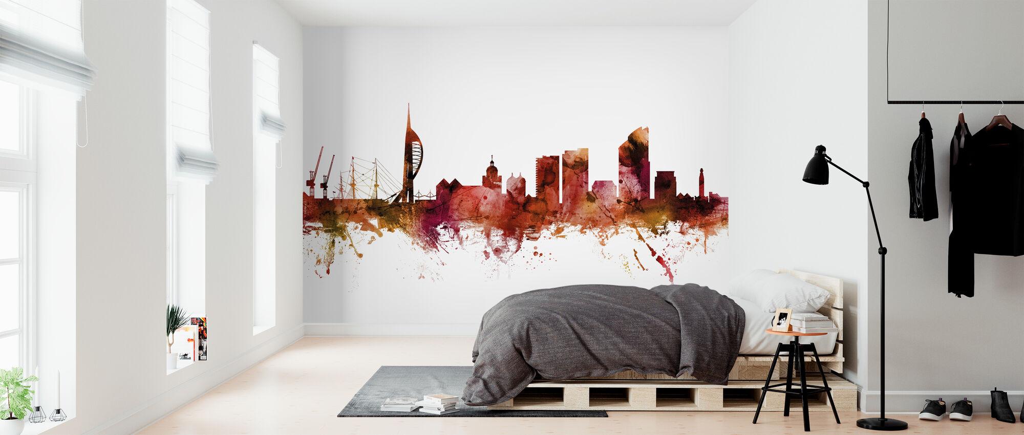Portsmouth England Skyline - Wallpaper - Bedroom