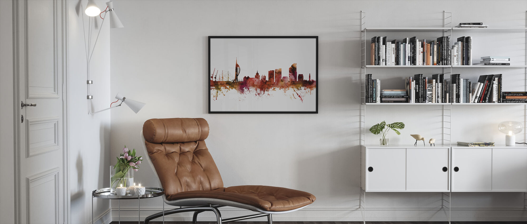 Portsmouth England Skyline - Framed print - Living Room