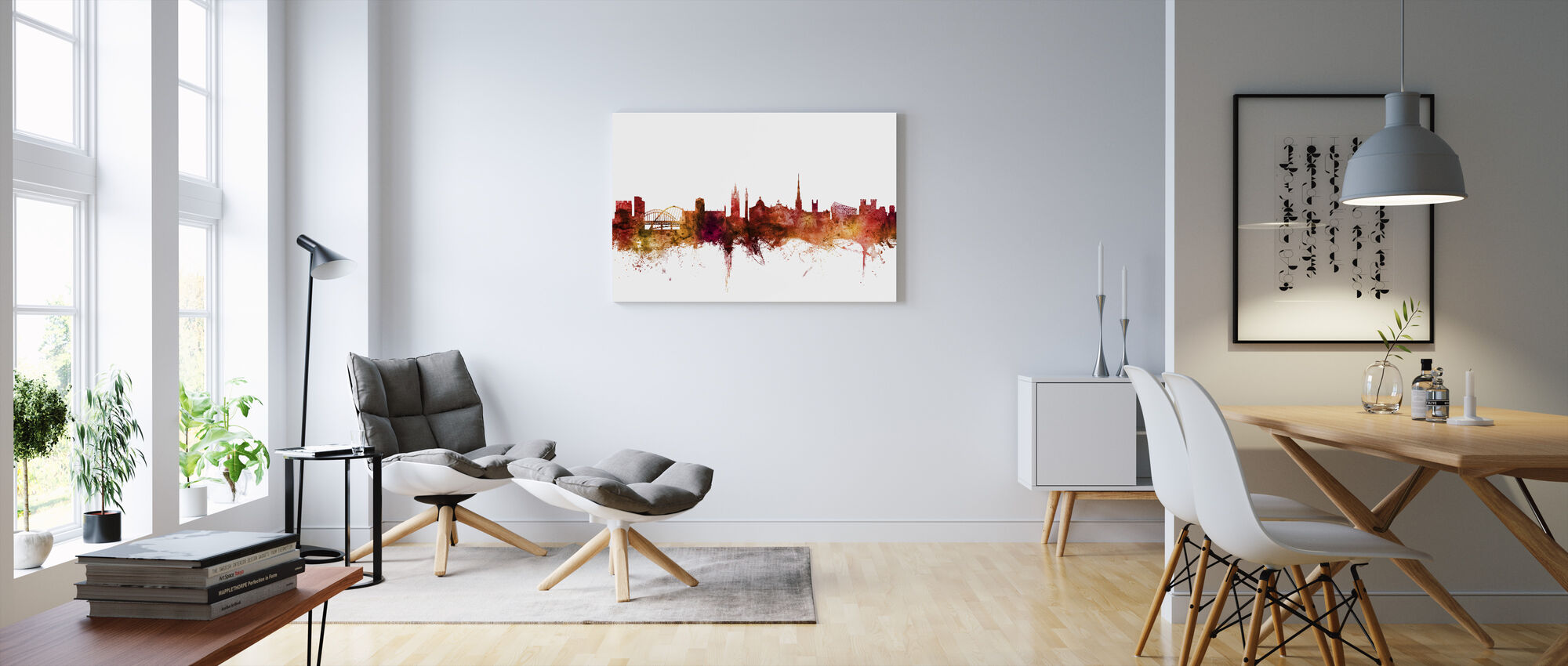 Newcastle England Skyline - Canvas print - Living Room