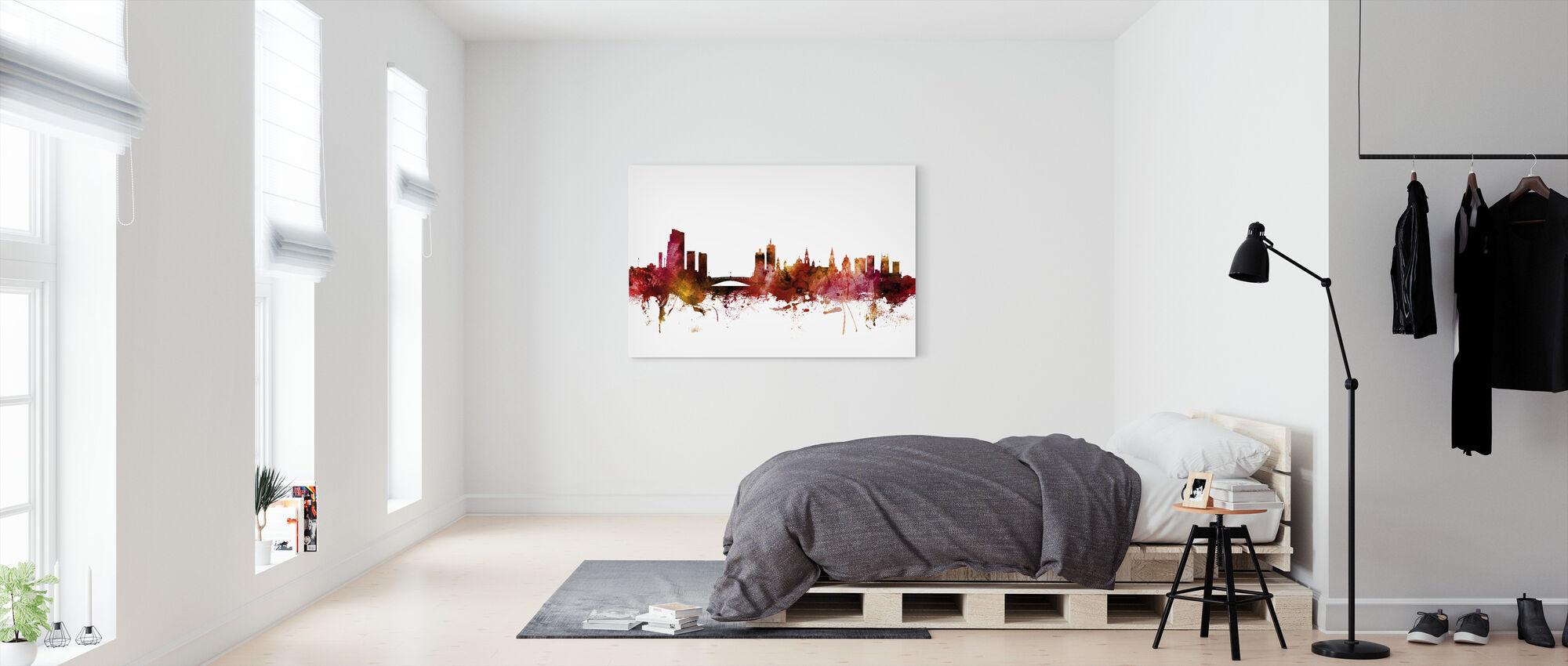 Leeds England Skyline - Canvas print - Bedroom
