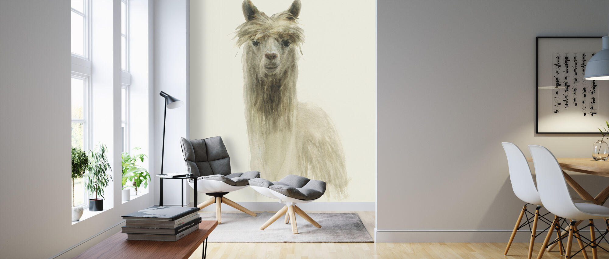Klassieke lama's I - Behang - Woonkamer