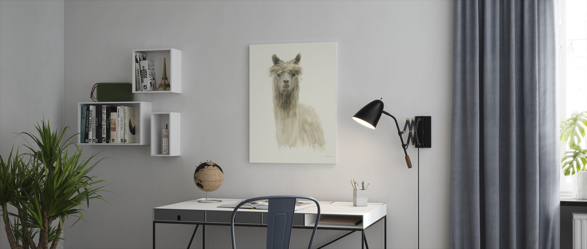 Classic Llamas I - Canvas print - Office
