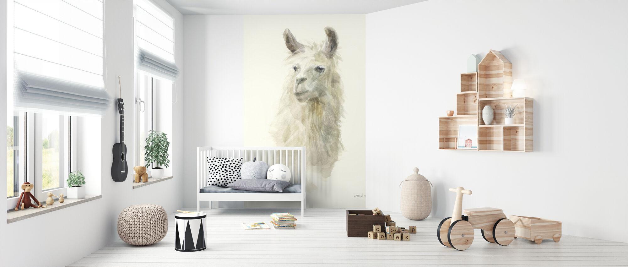 Classic Llamas II - Tapet - Babyrum
