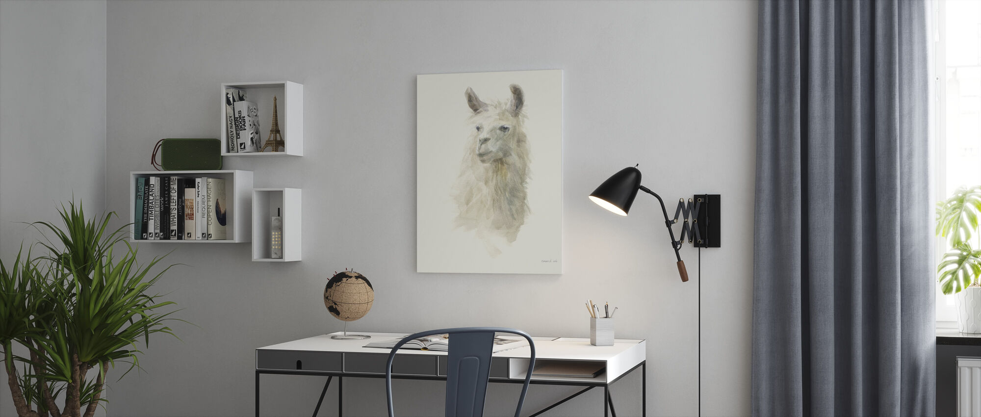 Classic Llamas II - Canvastavla - Kontor