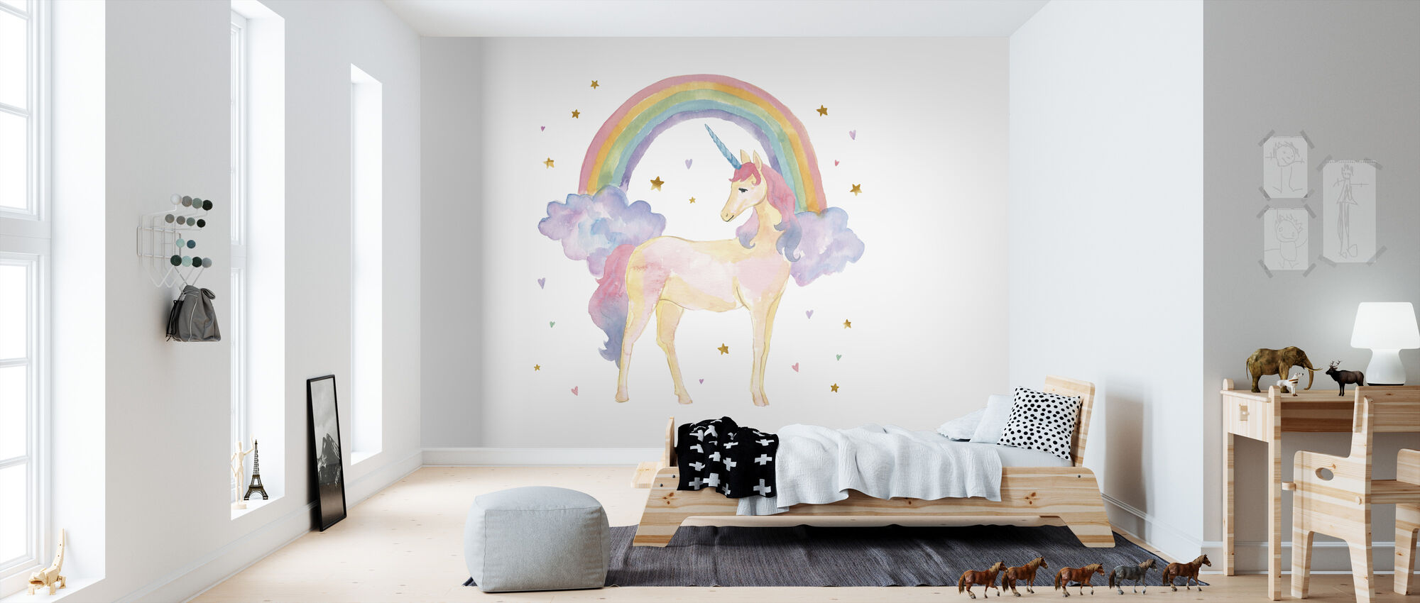 Magical Friends I - Wallpaper - Kids Room