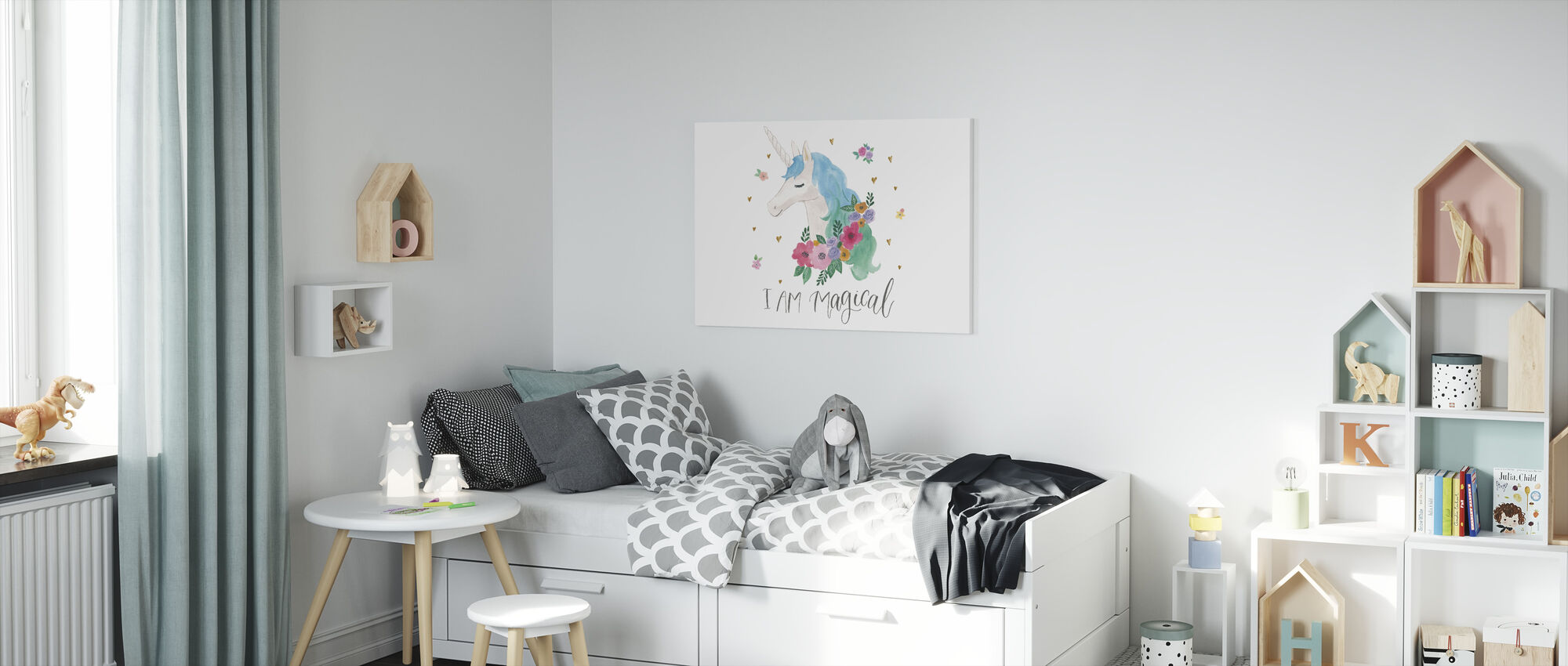 Magical Friends IV - Canvas print - Kids Room