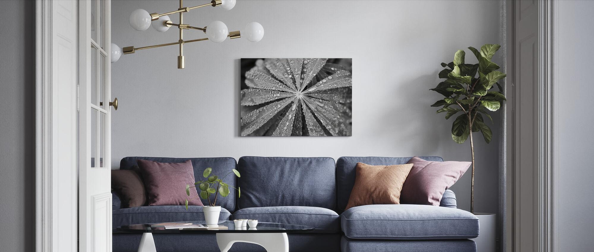 Raindrops on Lupine - Canvas print - Living Room