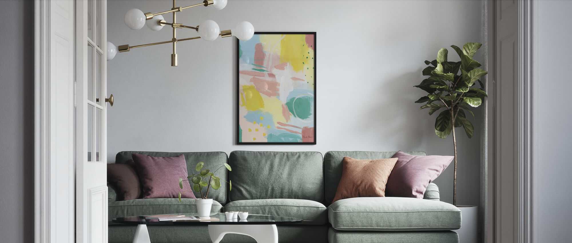Fresh Face Abstract II - Framed print - Living Room