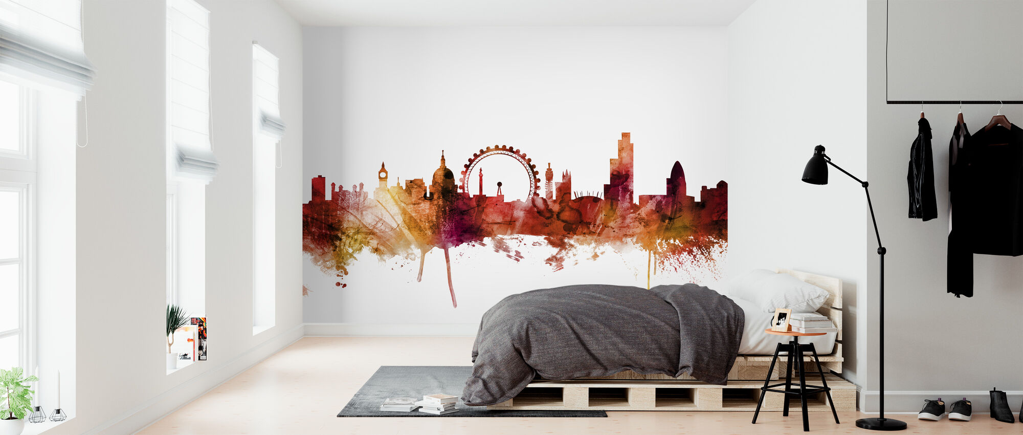 London England Skyline - Behang - Slaapkamer