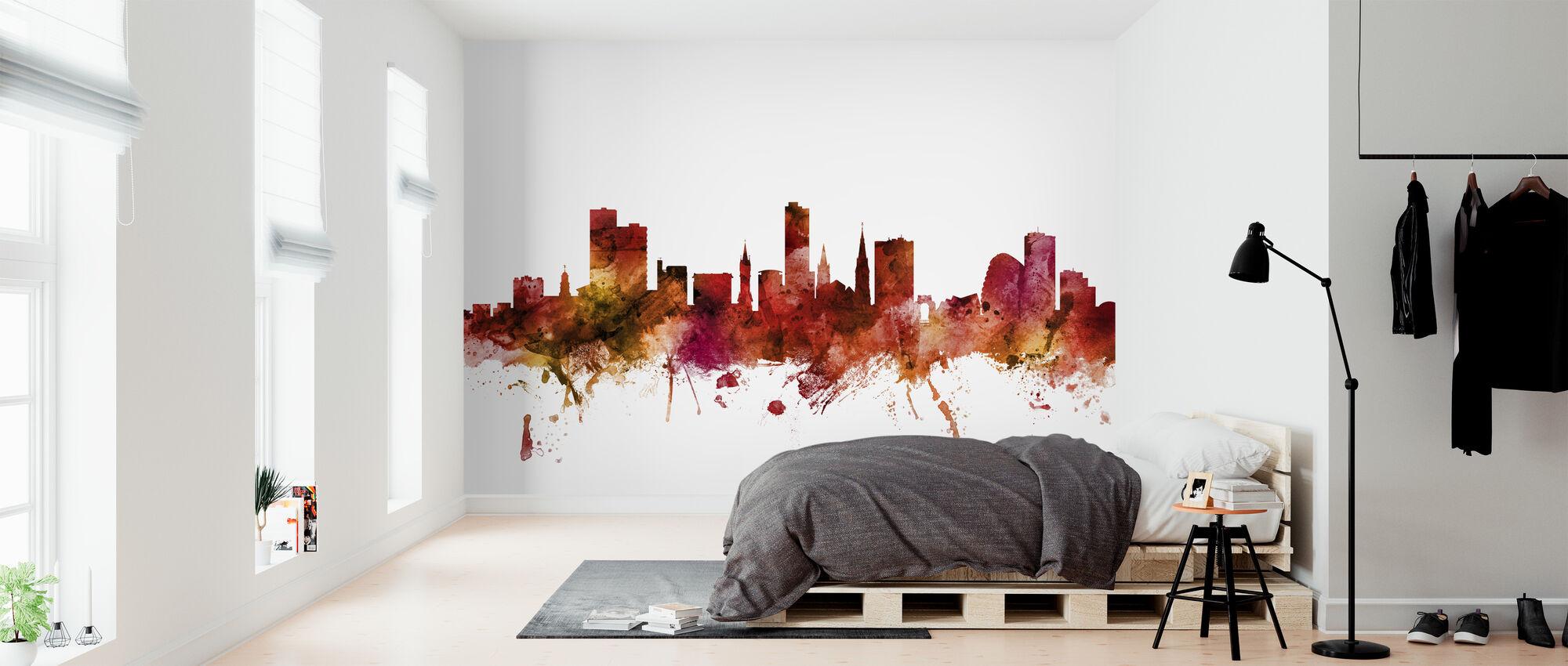 Leicester England Skyline - Wallpaper - Bedroom