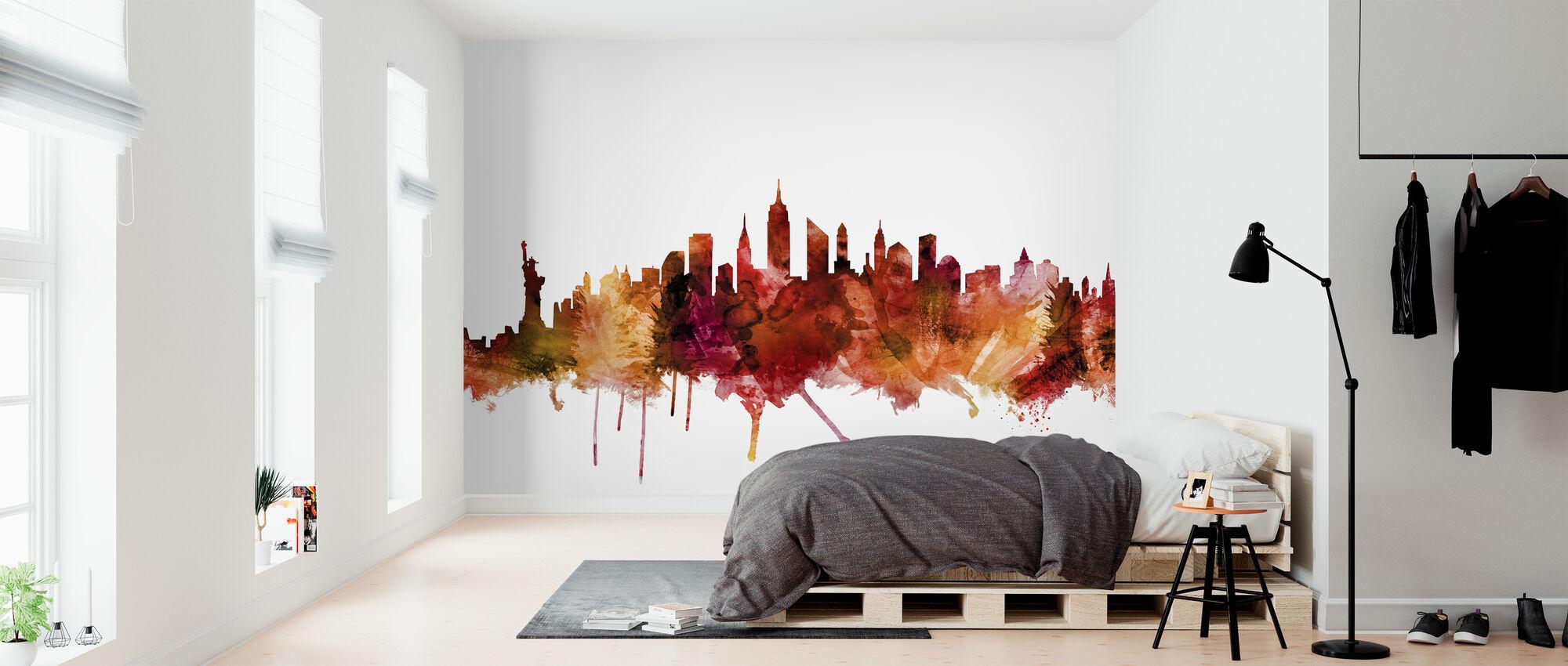 Skyline van New York - Behang - Slaapkamer
