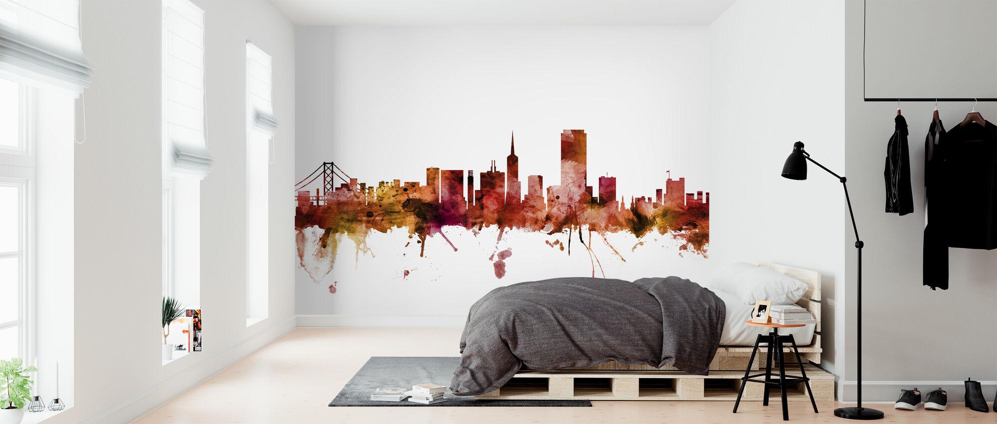 San Francisco Skyline - Tapetti - Makuuhuone