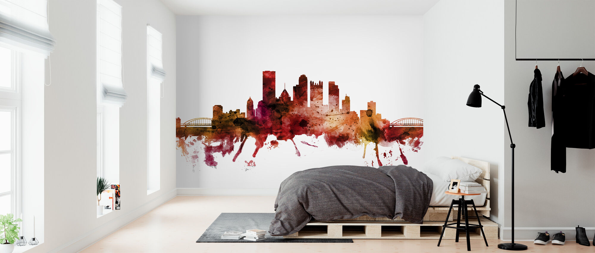 Pittsburgh Pennsylvania Skyline - Wallpaper - Bedroom