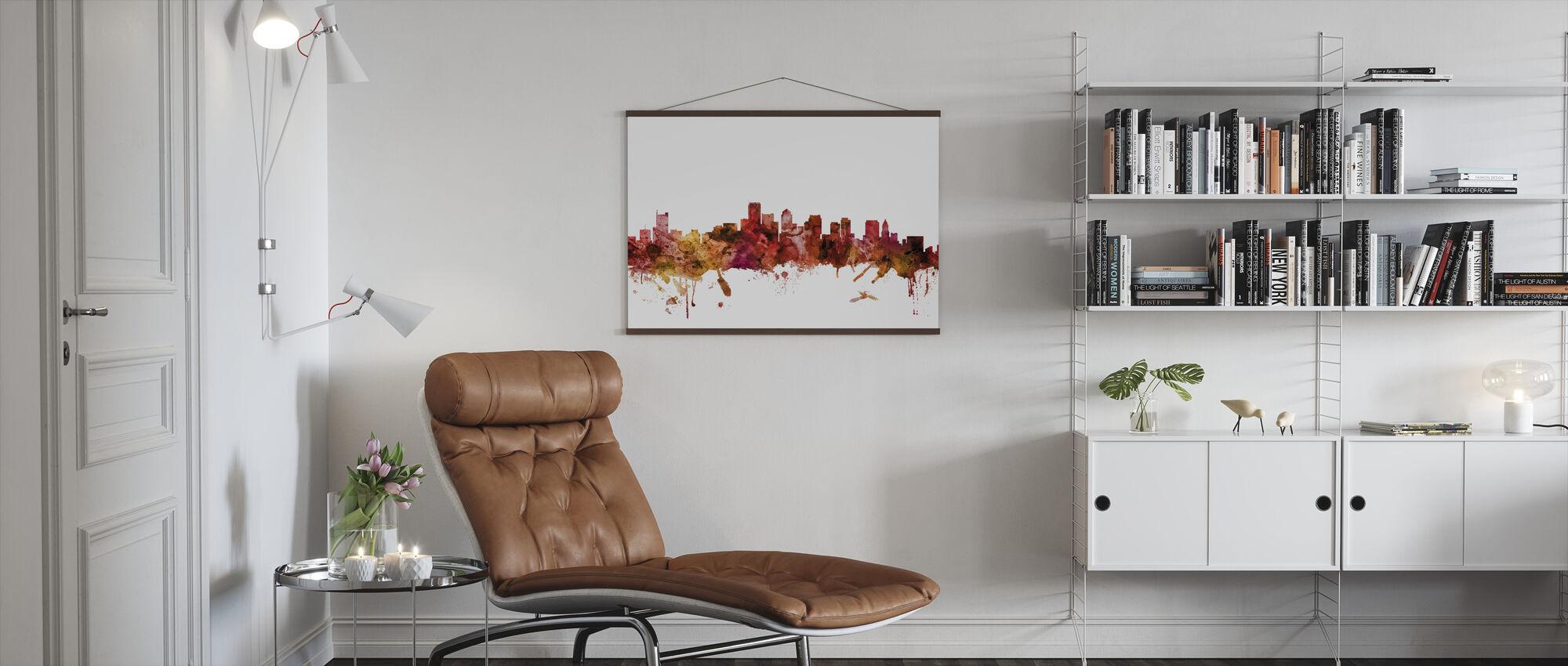 Boston Massachusetts Skyline - Poster - Living Room