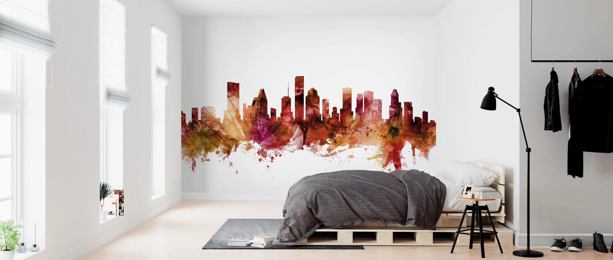 Houston Texas Skyline - Wallpaper - Bedroom