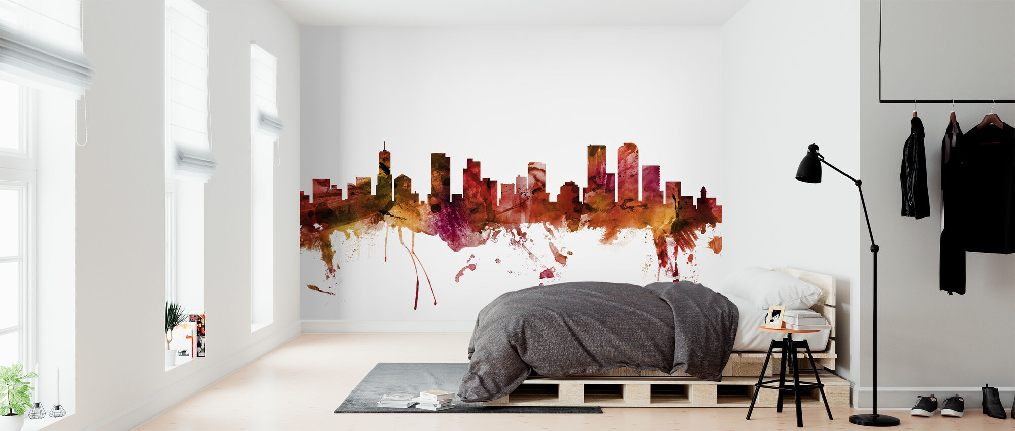 Denver Colorado Skyline - Wallpaper - Bedroom