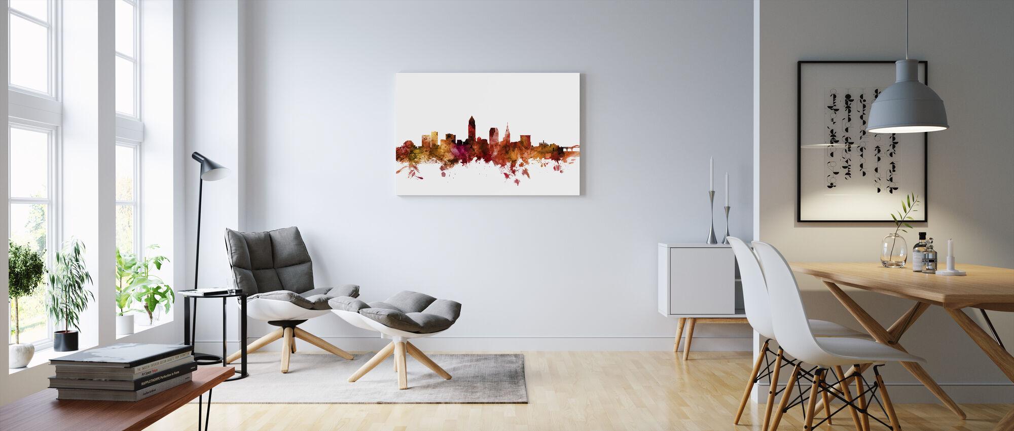 Cleveland Ohio Skyline - Lerretsbilde - Stue