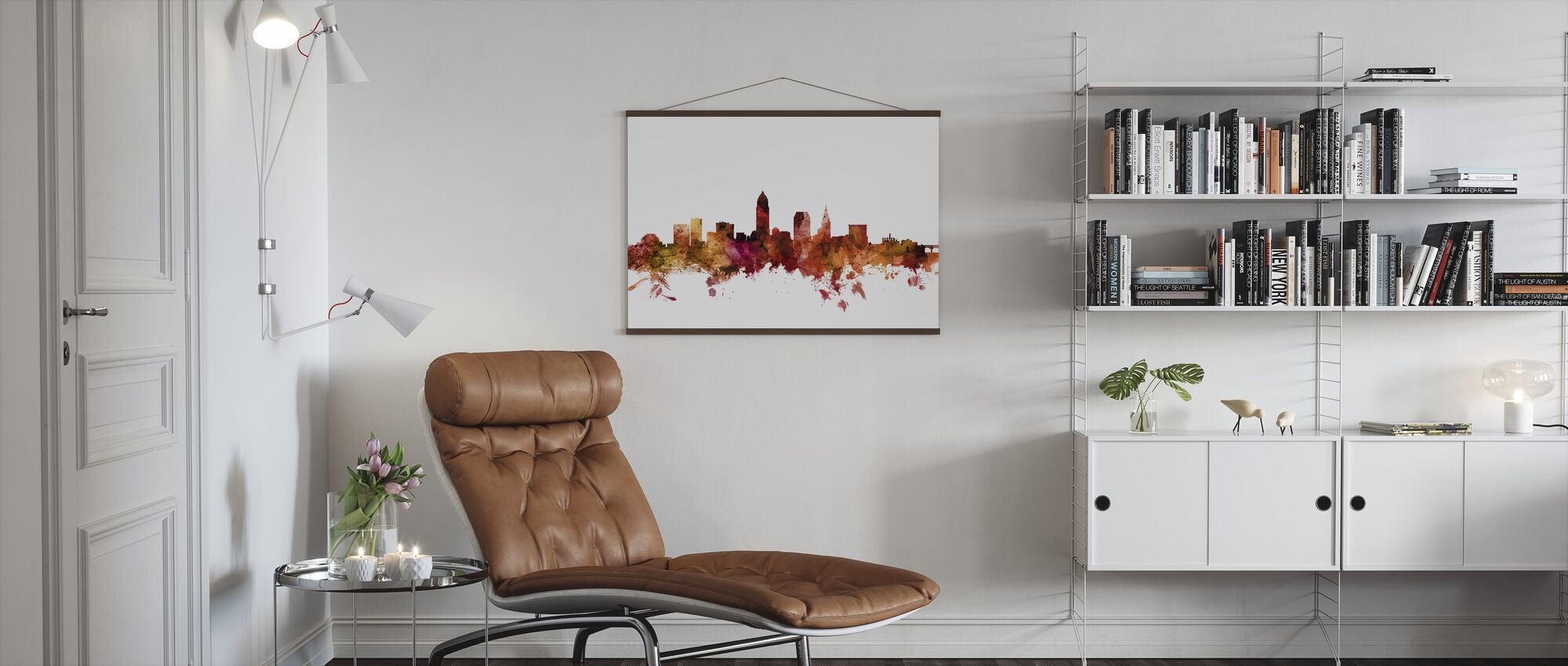 Cleveland Ohio Skyline - Poster - Woonkamer