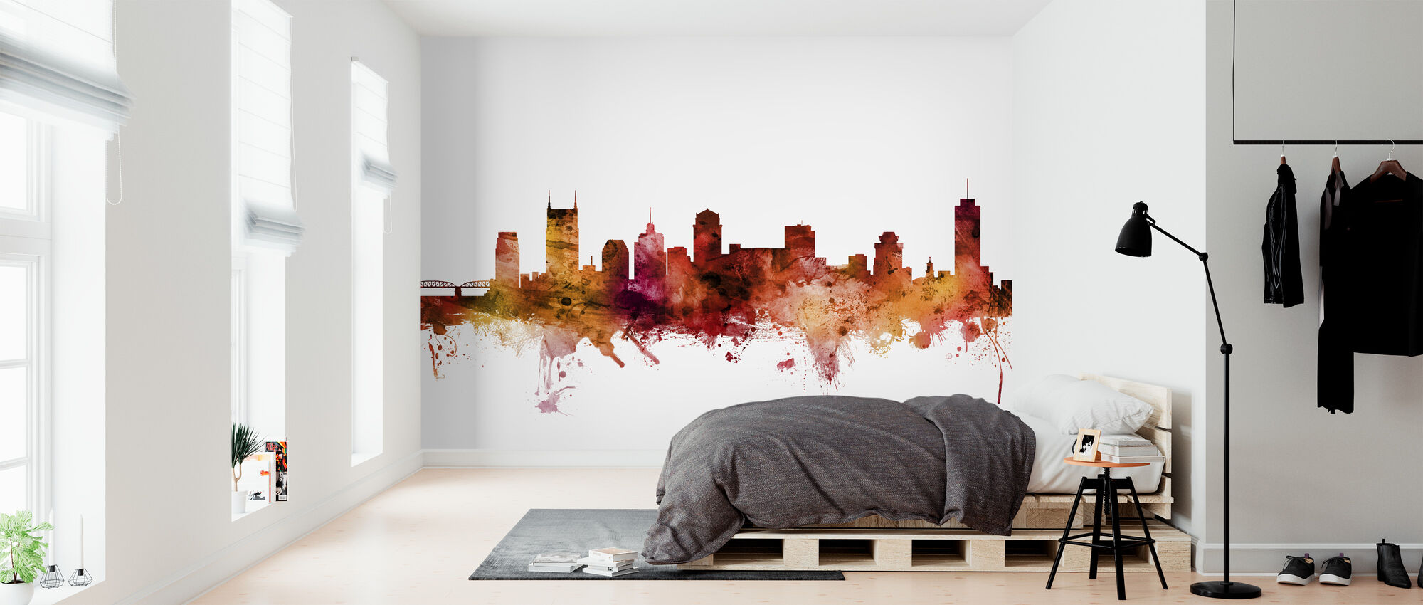 Nashville Tennessee Skyline - Wallpaper - Bedroom