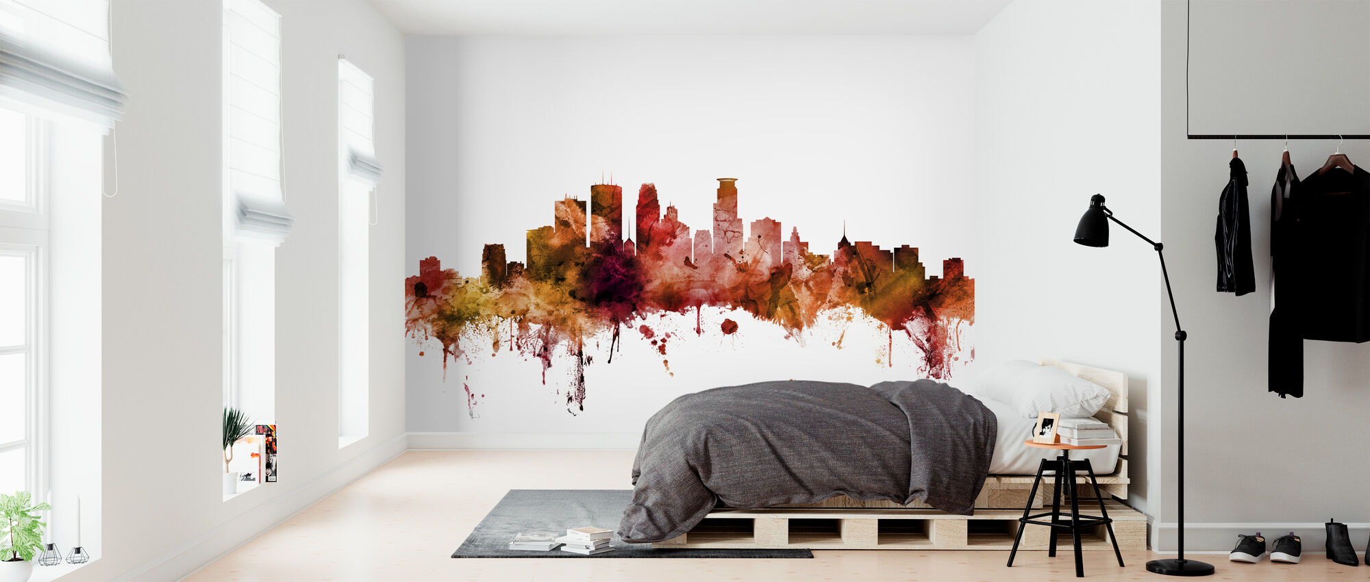 Minneapolis Minnesota Skyline - Wallpaper - Bedroom