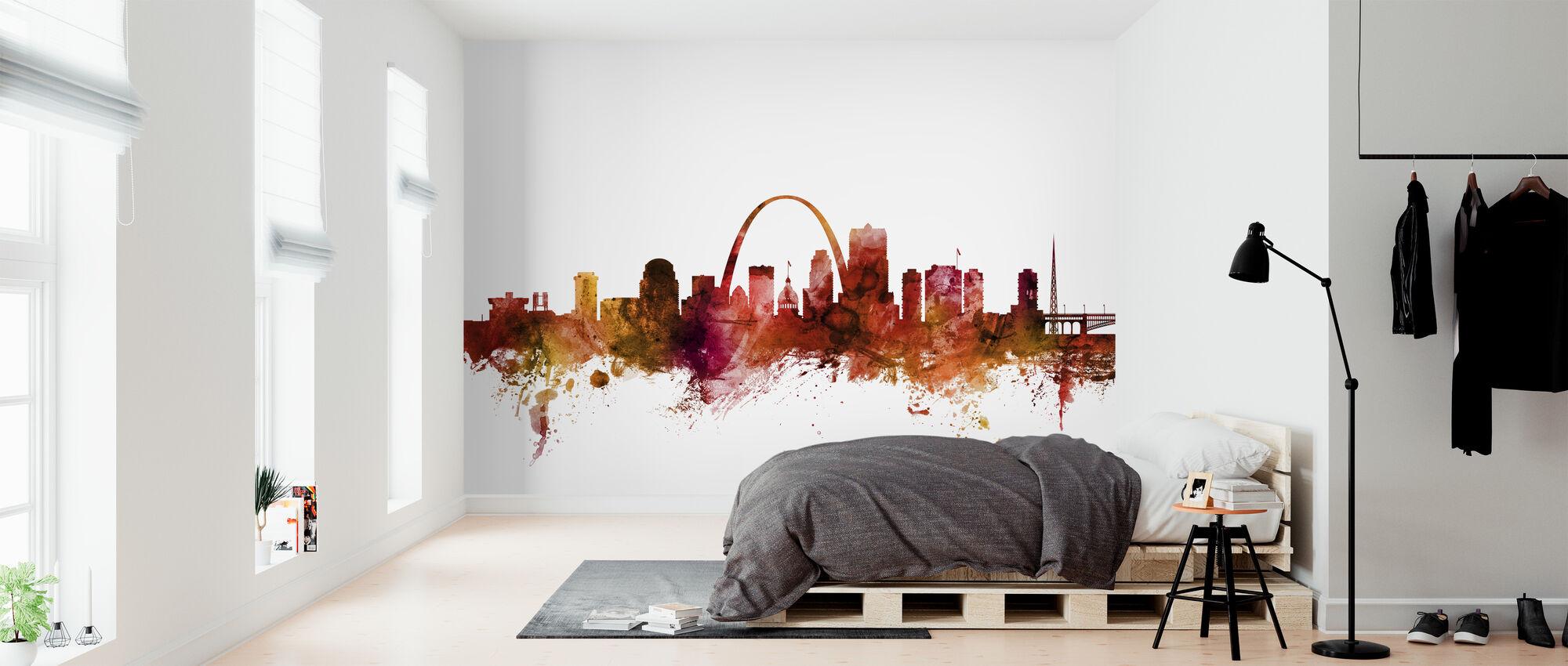 Skyline von St. Louis Missouri - Tapete - Schlafzimmer