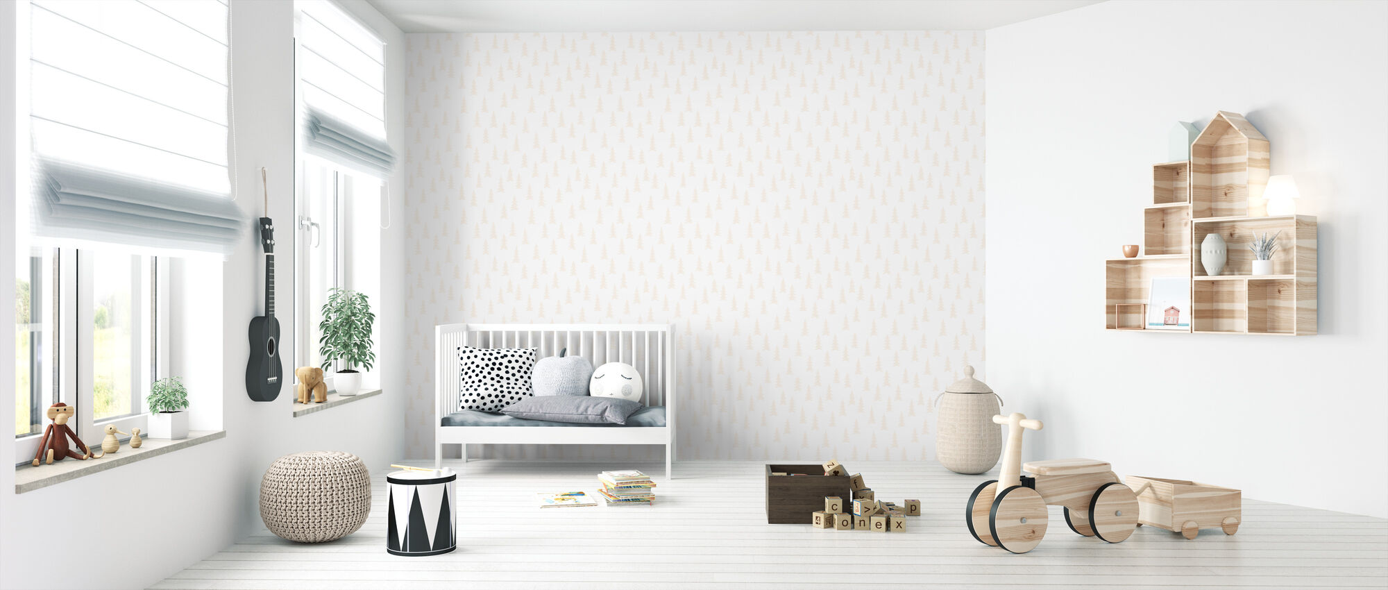 Spruce - Cotton - Wallpaper - Nursery