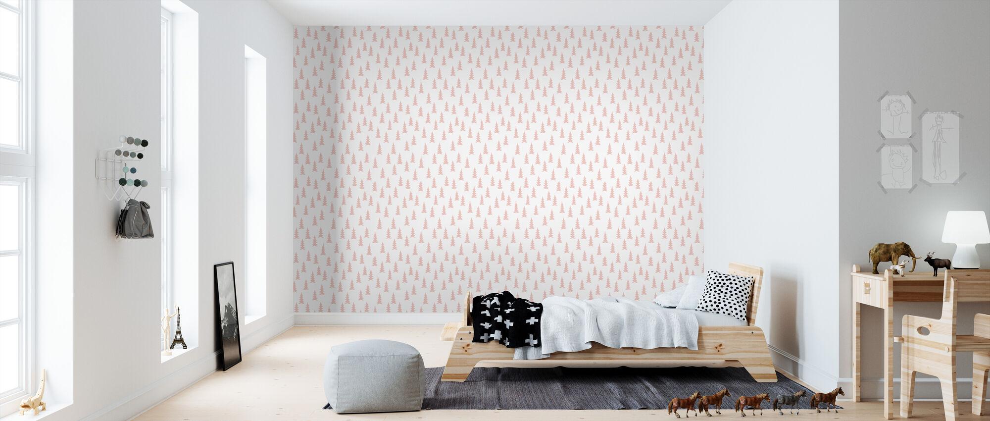 Large - Pink - Wallpaper - Kids Room