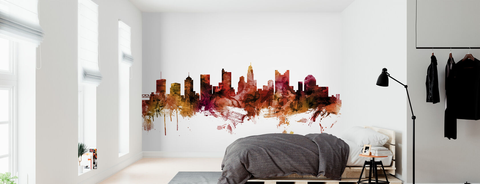 Columbus Ohio Skyline - Wallpaper - Bedroom