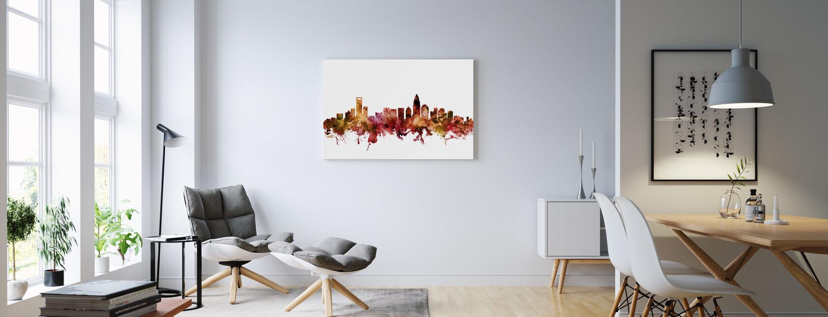 Charlotte North Carolina Skyline - Billede på lærred - Stue