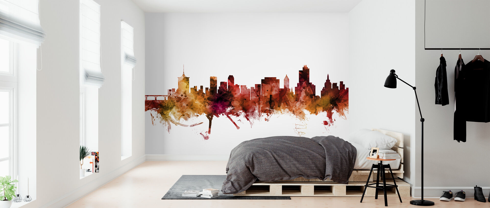 Tulsa Oklahoma Skyline - Wallpaper - Bedroom