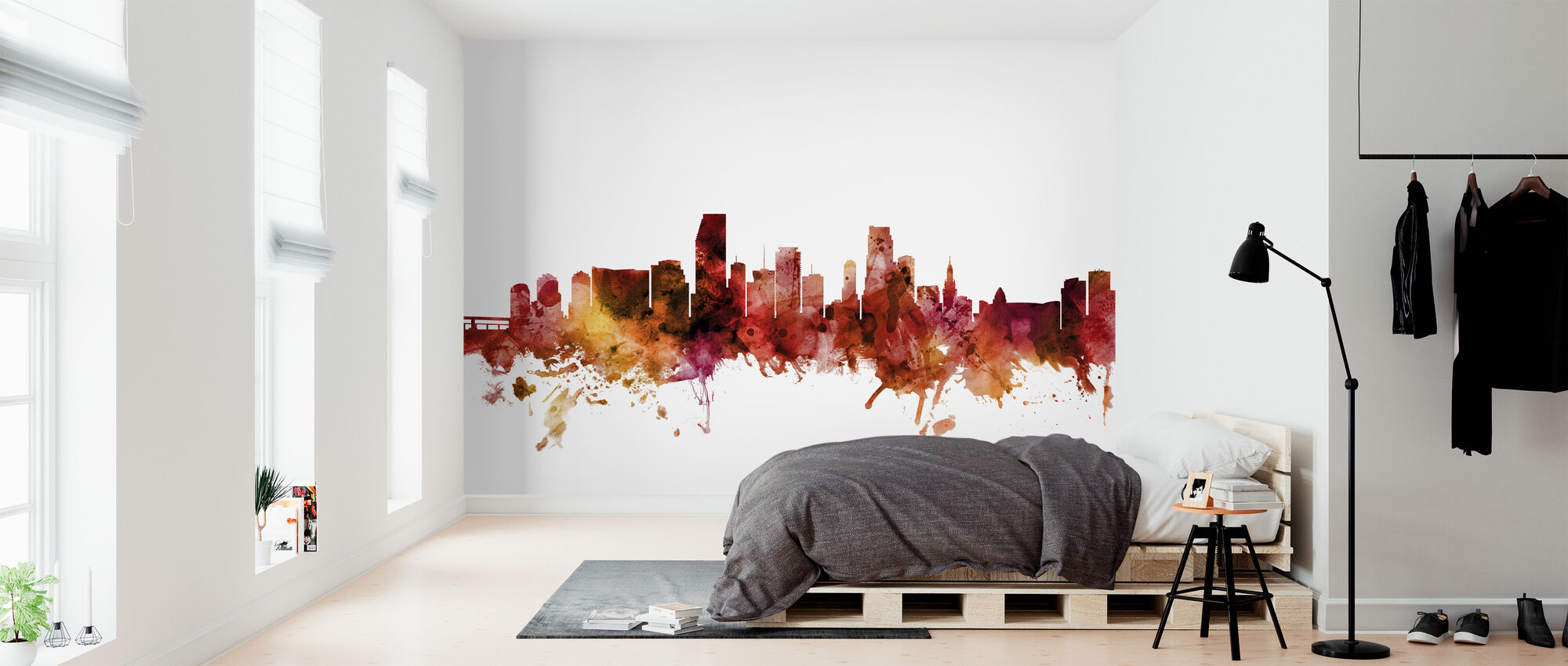 Miami Florida Skyline - Wallpaper - Bedroom