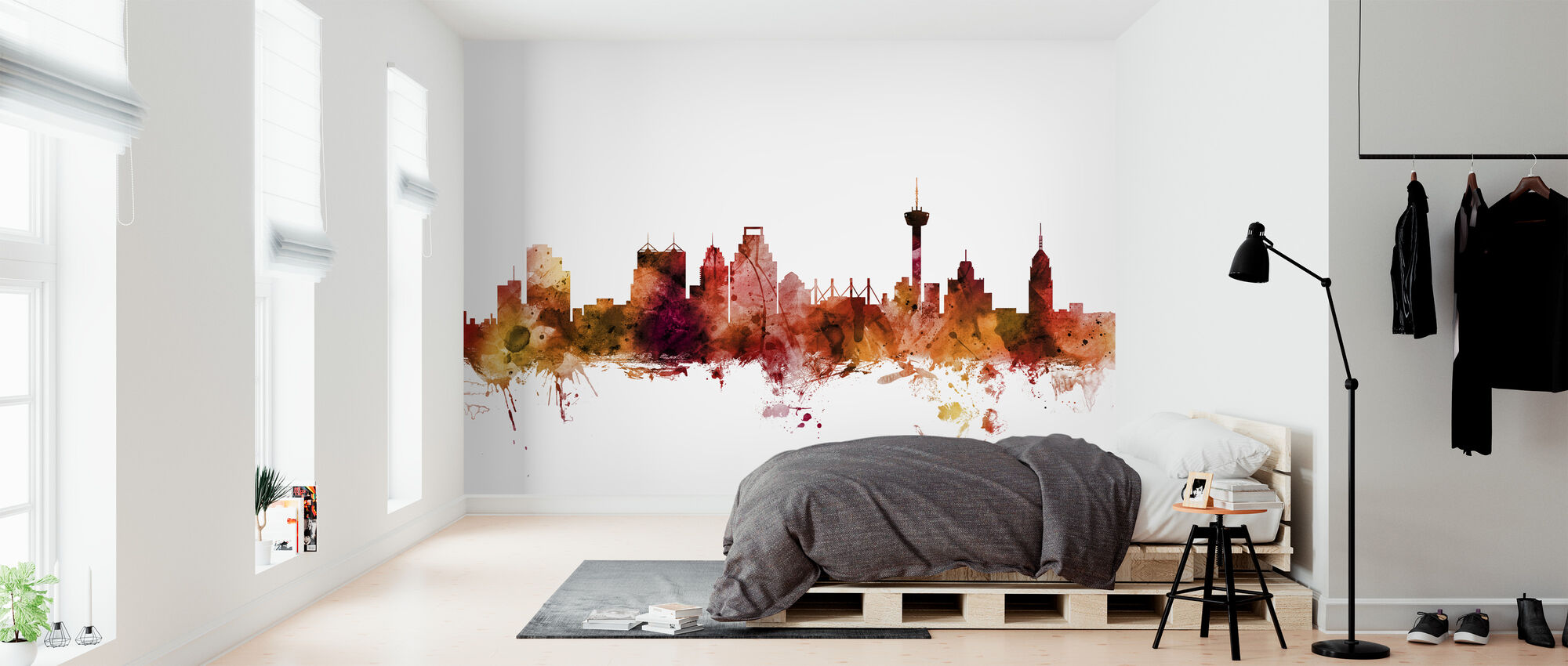 San Antonio Texas Skyline - Wallpaper - Bedroom