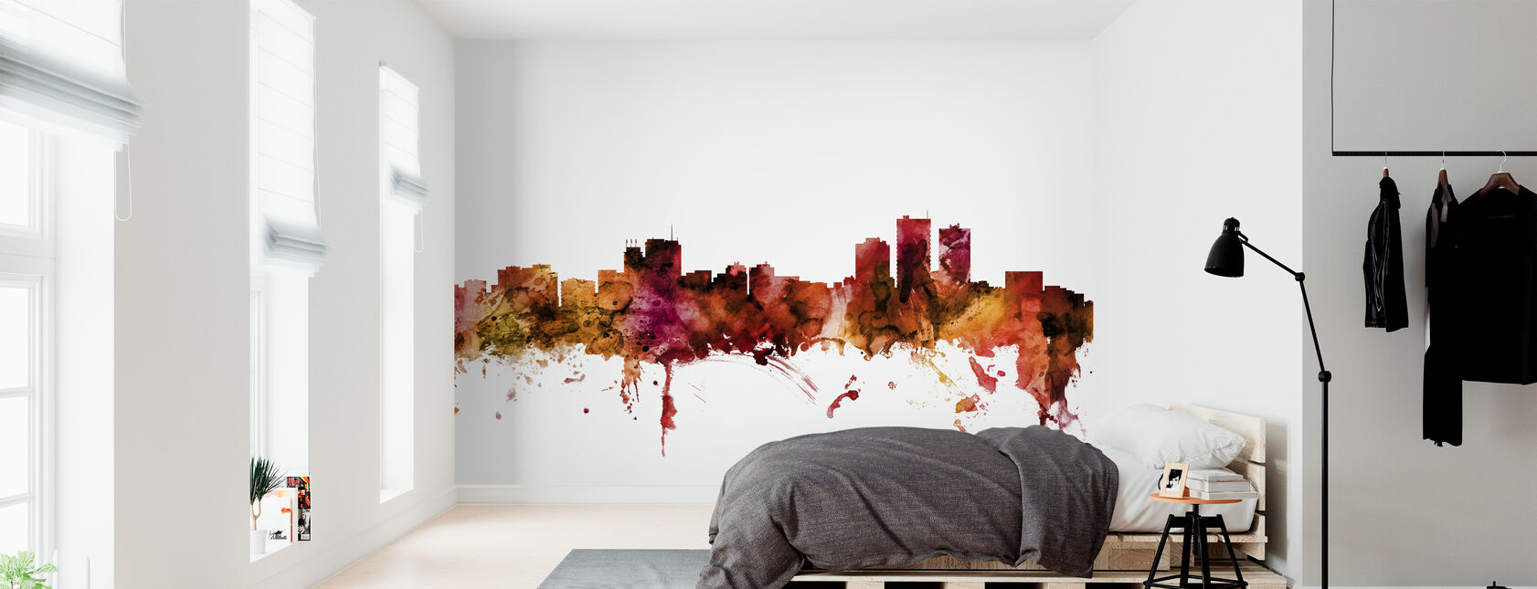Anchorage Alaska Skyline - Wallpaper - Bedroom