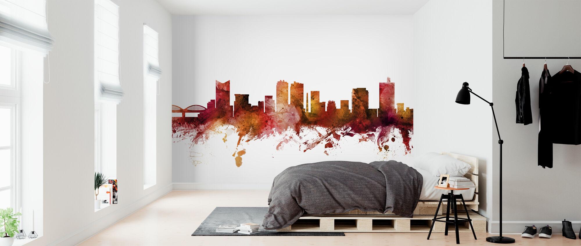 Fort Worth Texas Skyline - Wallpaper - Bedroom