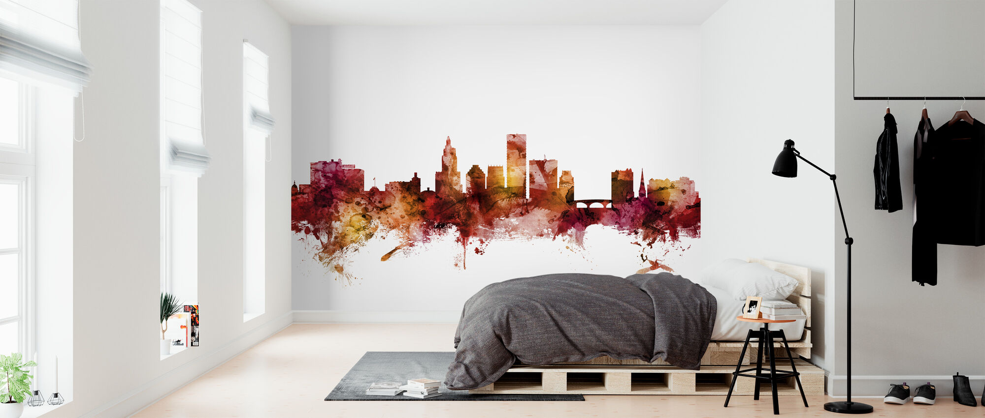 Providence Rhode Island Skyline - Wallpaper - Bedroom