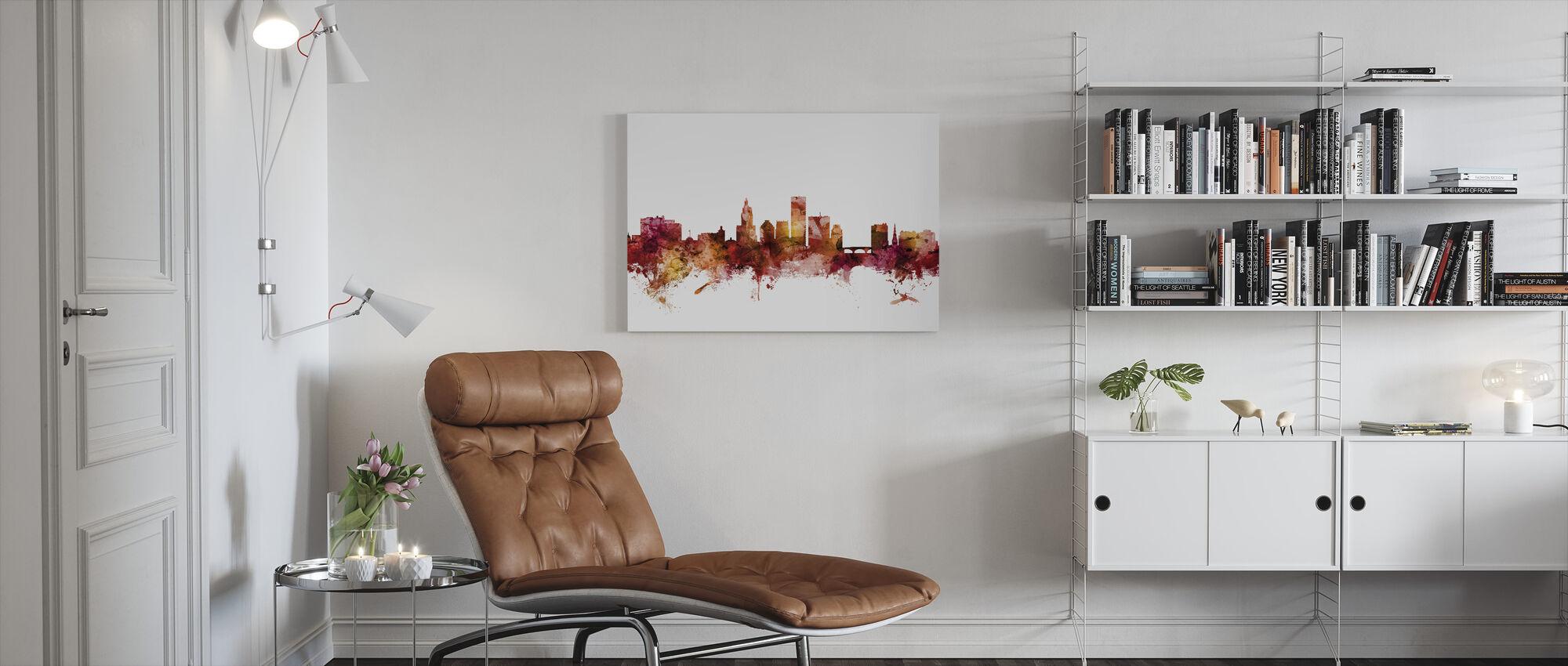 Providence Rhode Island Skyline - Canvas print - Living Room
