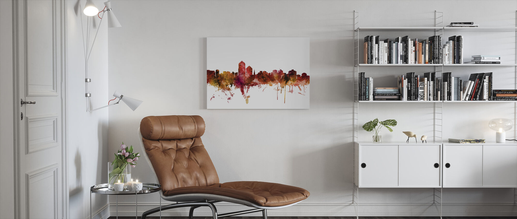 Albuquerque New Mexico Skyline - Canvas print - Living Room