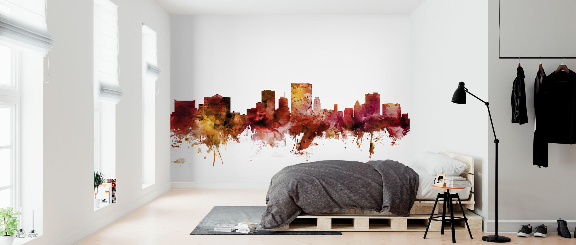 El Paso Texas Skyline - Wallpaper - Bedroom