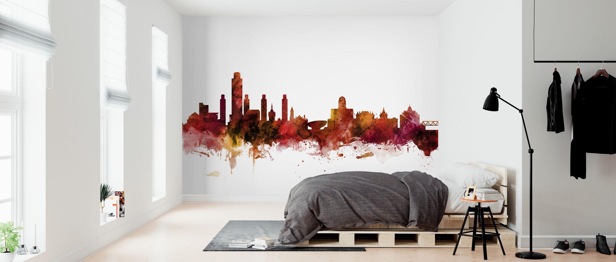 Albany New York Skyline - Tapet - Sovrum